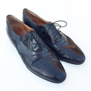 Salvatore Ferragamo Leather Wingtip Oxfords